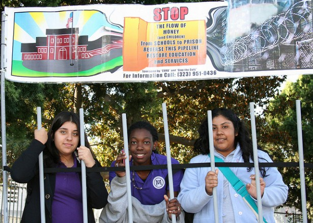 Students in Southern California opposing the school-to-prison pipeline. (Flickr/ACLU of Southern California)