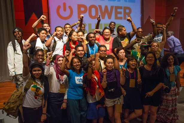 Global Power Shift participants. (350.org / Shadia Fayne Wood)