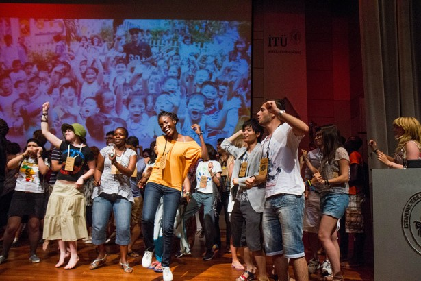 A scene from Global Power Shift's opening plenary session on Monday. (Flickr / Shadia Fayne Wood)