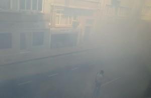 "@ekizilkaya: ""Police used tear gas near a labor union to stop #mayday demos reach Taksim Square. How much? This."" (Flickr/guventurks)"