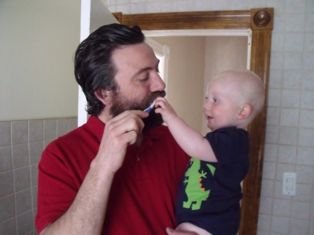 Patrick Sheehan-Gaumer and son, Seamus. (WNV/Frida Berrigan)