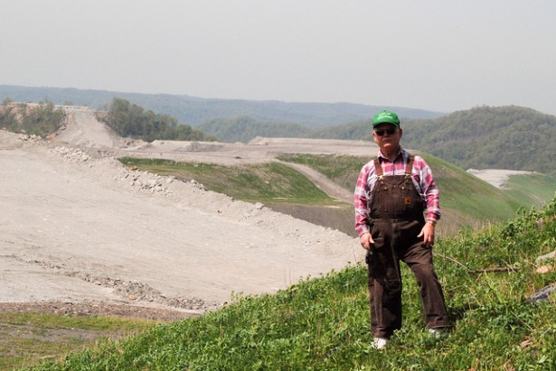 Anti-mountaintop removal activist Larry Gibson, who passed away last year, saw most of his family's land on Kayford Mountain in West Virginia razed by the coal industry. (Flickr / Blaine O'Neill)