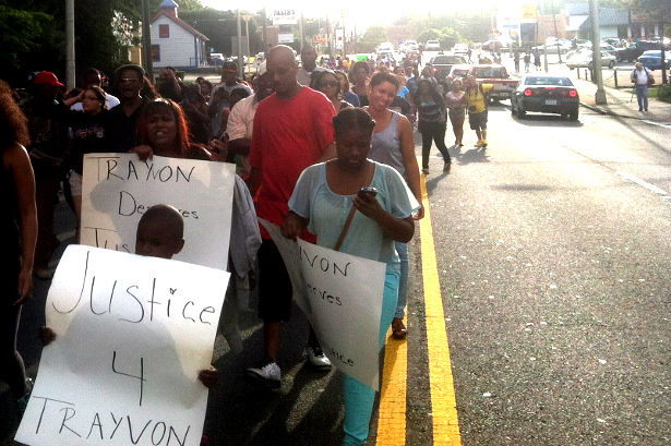 March in Atlanta after George Zimmerman was found not guilty for the killing of Trayvon Martin. (WNV/Yotam Marom)