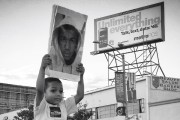 At a rally for Trayvon Martin on July 24 in Los Angeles. (Flickr/Ryan Vaarsi)
