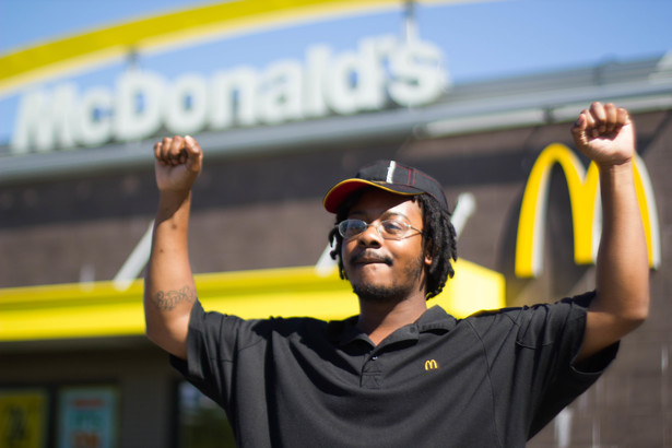 Carlos Jefferson walked off his Job at Mcdonalds in Milwaukee. (Left in Focus/Bryan MacCormack)