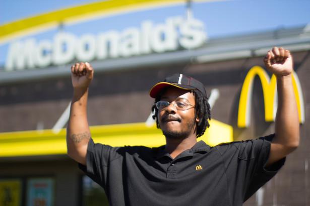 Carlos Jefferson walked off his Job at Mcdonalds in Milwaukee. (Left in Focus/Bryan MacCormack)