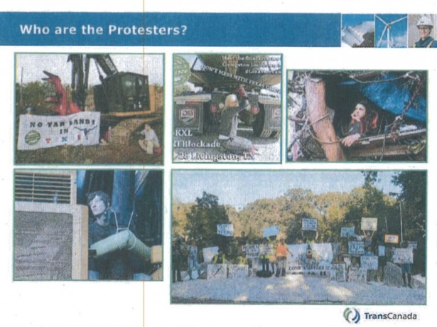 a page from Transcanada's powerpoint slide