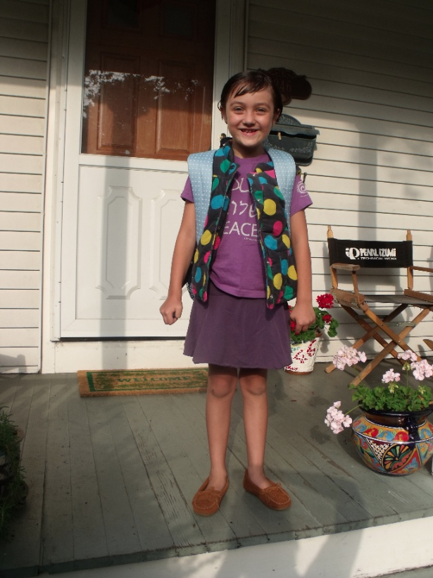 Rosena on her first day of first grade. (WNV / Patrick Sheehan-Gaumer)