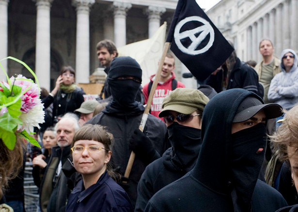 Anarchist protesters at the G20 summit on April 1, 2009. (Flickr/Kashfi Halford)