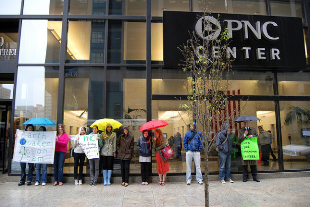 EQAT outside the PNC headquarters in Philadelphia in April 2010. (Flickr / Blaine O'Neill)