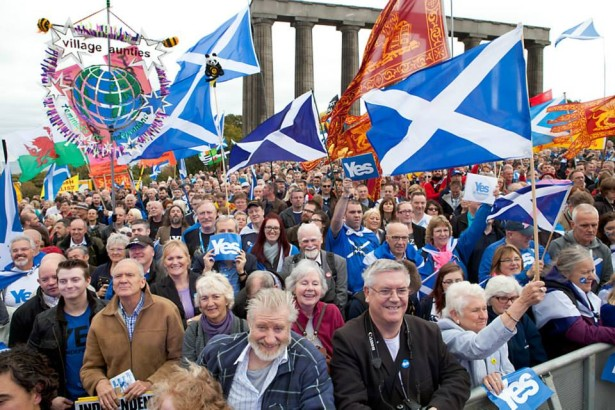 A march and rally for Scottish Independence in Edinburgh, Scotland. (WNV/Ivon Bartholomew)