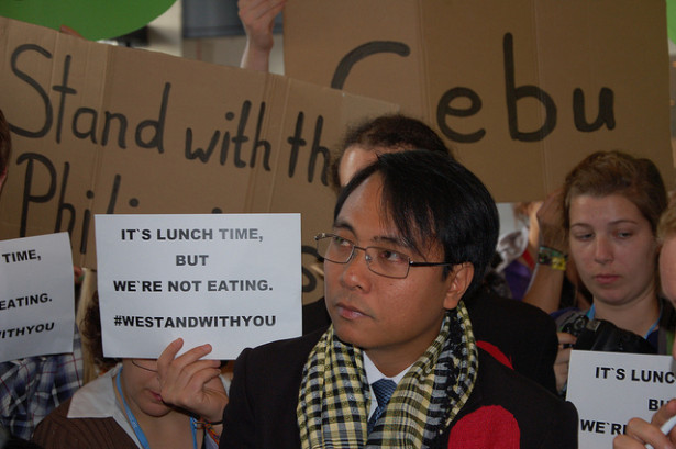 Filipino lead negotiator undertook a 13-day fast for the climate at the U.N. climate talks in Warsaw. (350.org)