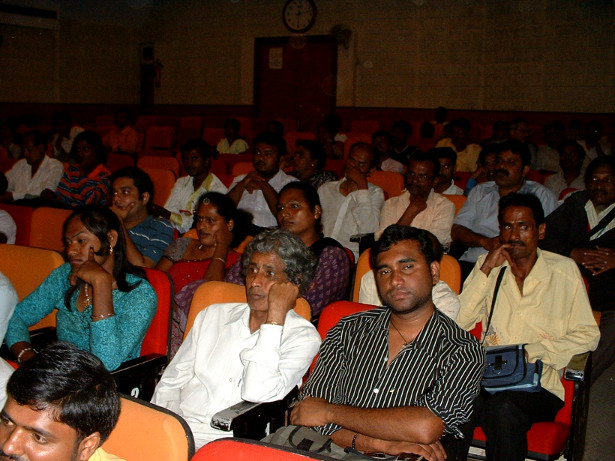 Transgender Indians and their supporters at the release of a film on the LGBTIQ community. (WNV/Pushpa Achanta)