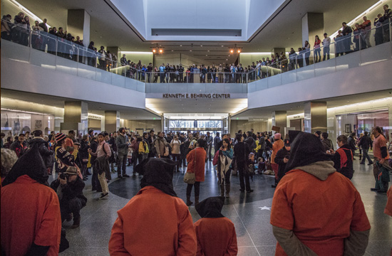 Witness Against Torture installs temporary exhibit on Guantanamo at the National Museum of American History (WNV/Witness Against Torture)
