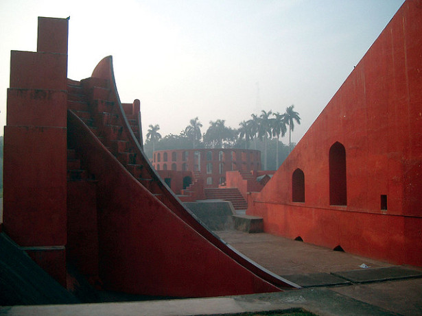 The Jantar Mantar observatory complex in Delhi. (Flickr/Tony Young)