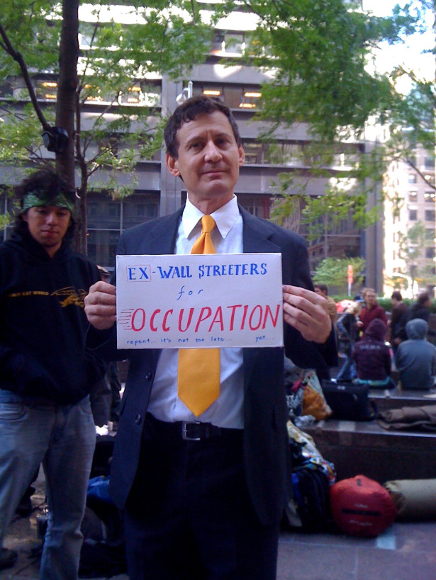 Occupy Wall Street protester on September 21, 2012. (WNV/Nathan Schneider)