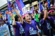 Rally Held To Commemorate International Women's Day