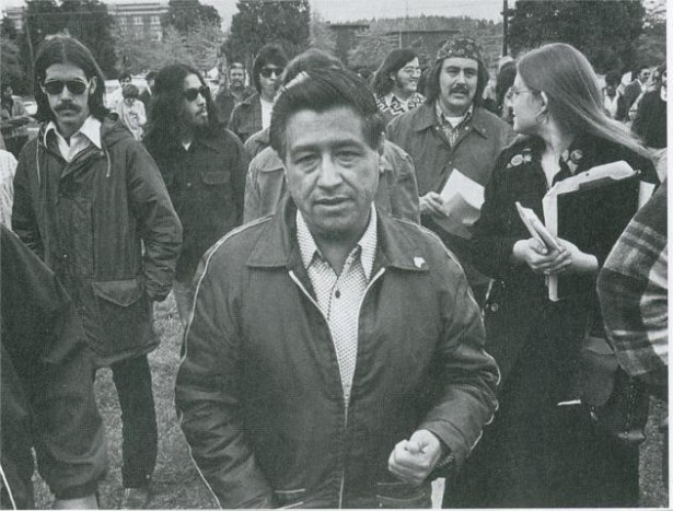César Chávez visits colegio César Chávez in 1974, a year after it opened. (Wikimedia Commons)