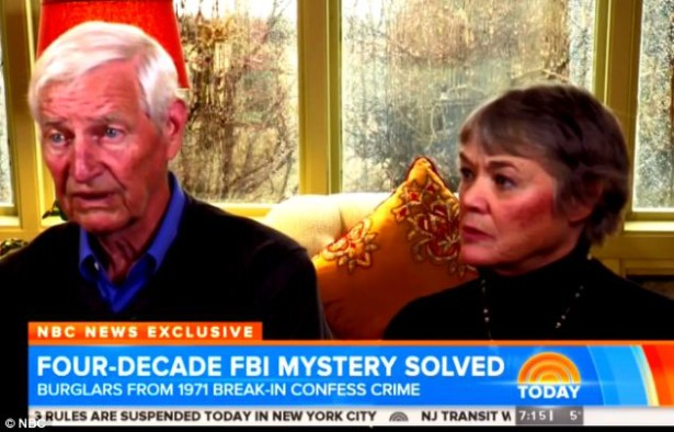 John and Bonnie Raines had three children when they stole classified documents from FBI offices in Pennsylvania in 1971. (NBC News)