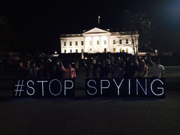 The debut action of the DC Light Brigade at the White House. (Facebook)