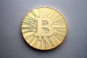A physical bitcoin. (Flickr/Antena)