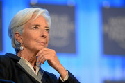 Christine Lagarde, at the 2013 World Economic Forum in Davos, Switzerland. (Wikimedia Commons/Michael Wuertenberg)