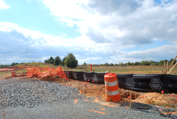 Data center construction site in Ashburn, Va. (WNV/Ingrid Burrington)