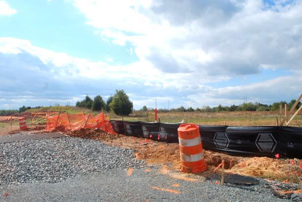 Data center construction site in Ashburn, Va. (WNV/Ingrid Burrington)