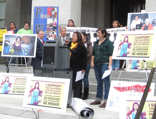 A California Domestic Workers Rally in Sacramento in April 2011. (Flickr / Maria Guillen)