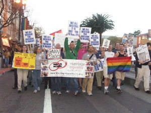 Activists rally in support on marriage equality in San Francisco in 2004. (Flickr/AJ Alfieri-Crispin)
