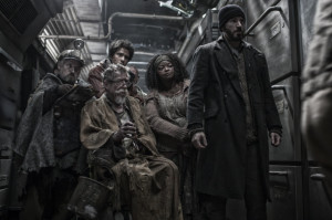 Residents of the tail of the train wage a revolution in Snowpiercer.