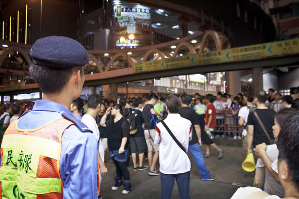 Occupy Central in Hong Kong on July 1. (Flickr /  Natasia Causse)
