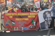 BDS South Africa staged a Palestine solidarity protest in the Limpopo province earlier this month. (Facebook / Che Erasmus Nche )