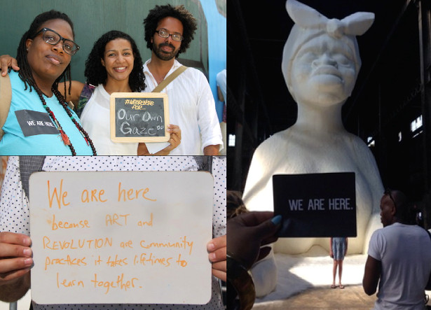 We Are Here: The Kara Walker Experience, June 22, 2014. (weareherekwe.tumblr.com)