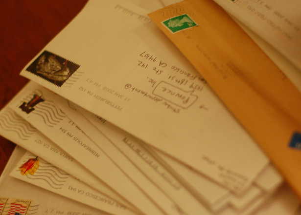 A stack of letters. (Flickr/Daniel & Sharon Burka)