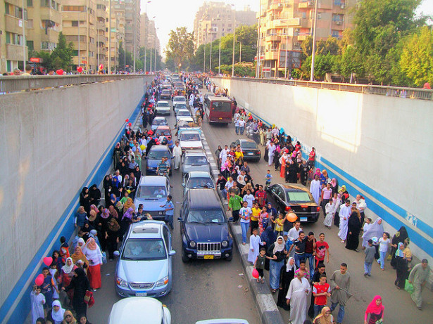 Egyptians returning from an Eid al-Fitr prayer in Giza. (Flickr/HuMaN_eXaMpLe)