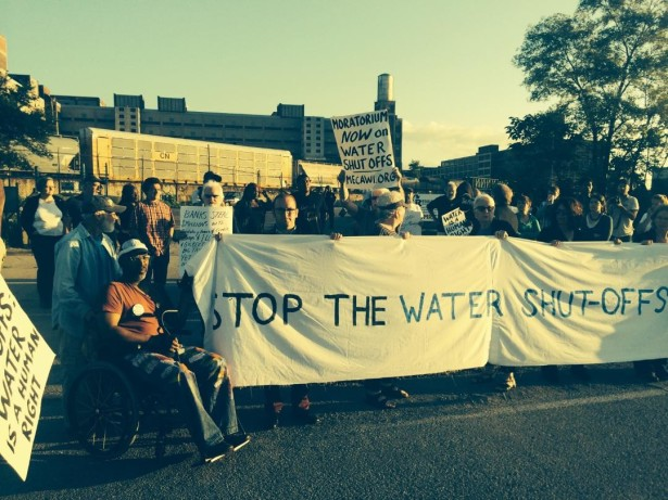 A protest against water shut-offs in Detroit. (Detroit Water Brigade)