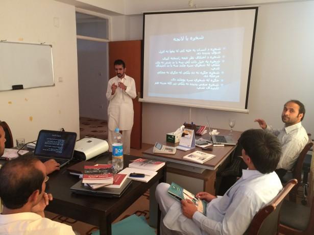 A civil resistance training by OSCAR in Kabul, Afghanistan (OSCAR)