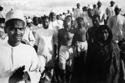 during the Salt March, March-April 1930. (Wikimedia Commons/Walter Bosshard)