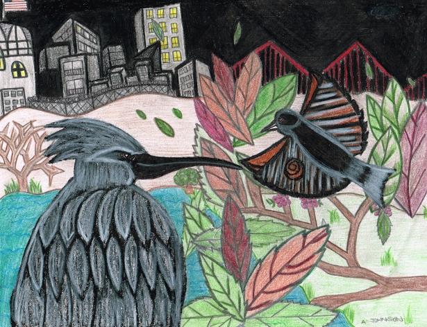 Artwork by Anthony Johnson. (WNV/Kazu Haga)