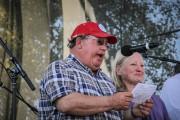 Art Tanderup and his wife speaking at Harvest the Hope in September 2014. (Flickr / Hear Nebraska / Chris Dinan)