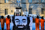 Witness Against Torture protesters rallied outside the British Embassy in Washington, D.C. earlier this week. (Flickr / Matthew Daloisio)