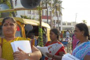 Women with the Bangalore-based Garment Labor Union (GLU)