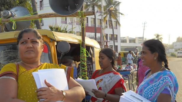 Women with the Bangalore-based Garment Labor Union (GLU)