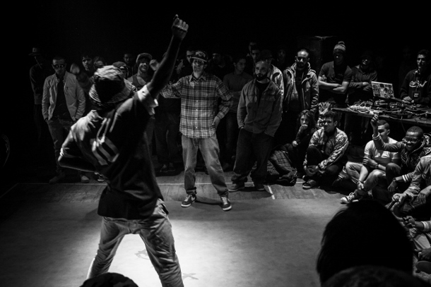 A break dance battle at the Beat the Beat festival in Tunisia on January 10. (WNV/Nicholas Linn)