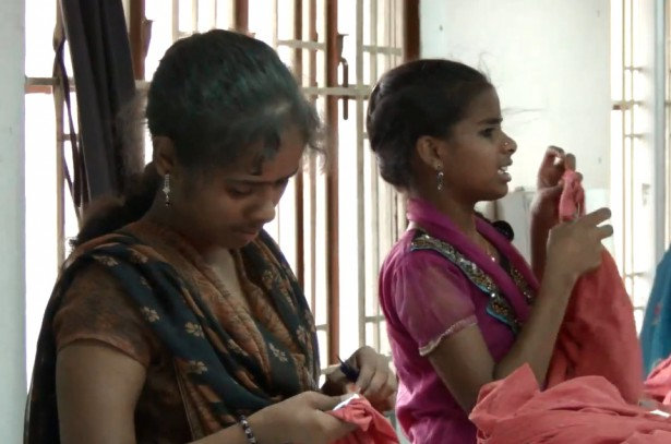 Young women working in a garment factory (Dollar City / Pushpa Achanta)
