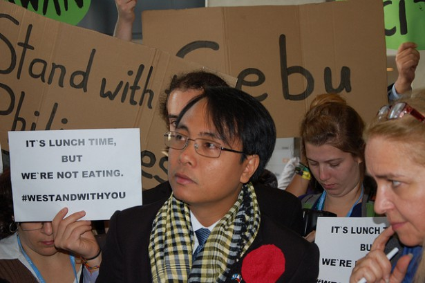 Filipino U.N. climate negotiator helped launch a fasting trend in December. (Flickr / 350.org)