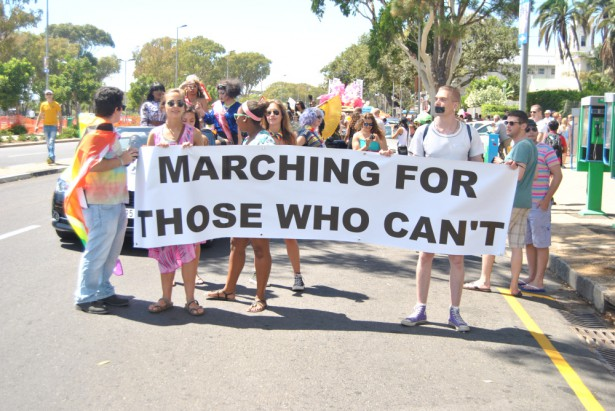 Members of the Triangle Project march in Cape Town Pride 2014. (Triangle Project)