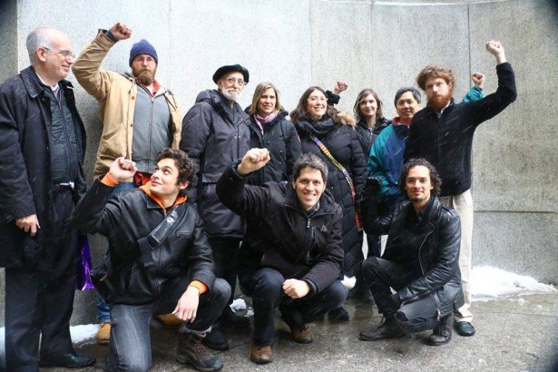 Nine of the Flood Wall Street 10 celebrate their victory in court. (Flood Wall Street)