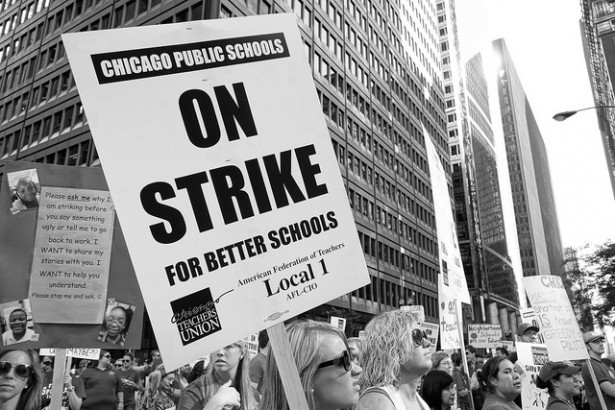 The Chicago teachers strike in 2012. (Flickr/Shutter Stutter)